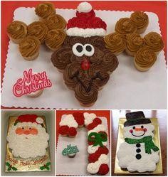Christmas Pull Apart Cupcakes