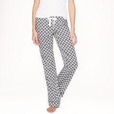 JCrew Pajama pant in end-on-end cotton foulard Size Medium