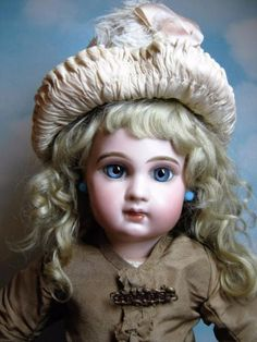Antique-French-E7J-Jumeau-Bebe-16-All-Orig-Gorgeous-Rare-Doll