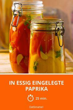In Essig eingelegte Paprika - smarter - Zeit: 25 Min. | eatsmarter.de Whole Grain Cereals, Calorie Diet, Eating Plans, Chutney, Cucumber, Food And Drink, Healthy Eating, Snacks, Vegan