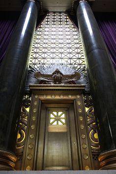 Door in Scottish Rite Freemason building, Washington DC