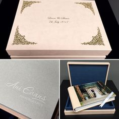 Stunning Graphistudio album with raised gold foil on box and crystal glance cover. Gold Foil, Albums, Crystals, Box, Cover, Snare Drum, Crystal, Crystals Minerals