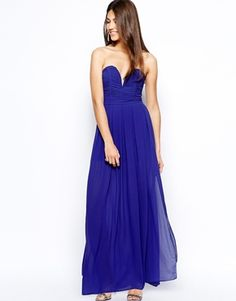 TFNC Maxi Dress With Plunge Bustier....er, not sure if I can pull it off