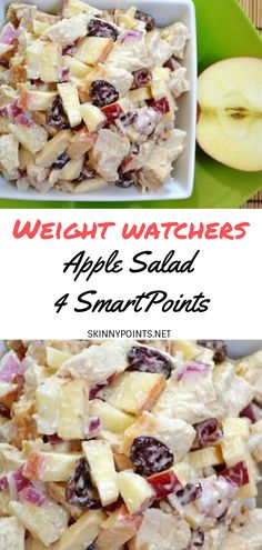 Easy and yummy Apple Salad come with 4 weight watchers Smart Points, Make this and tell me what you think ? This quick Recipe come with 3 PointsPlus and 4 SmartPoints. Skinny Recipes, Ww Recipes, Salad Recipes, Cooking Recipes, Healthy Recipes, Waffle Recipes, Snacks Recipes, Burger Recipes, Candy Recipes