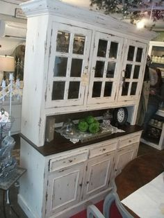 China Hutch Painted Country Hutchcountry Kitchenfrench