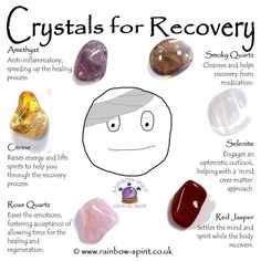 Crystal Set for Recovery Crystal Healing Chart, Crystal Guide, Crystal Magic, Crystal Shop, Rose Quartz Crystal, Healing Crystals, Healing Crystal Jewelry, Gemstone Jewelry, Crystal Place