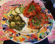 Tandoori Chicken Palak Paneer