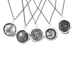 Pyrrha Design Letter Necklace - sterling silver