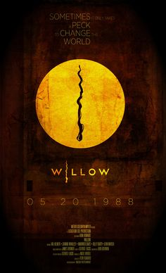 May Willow, Ron Howard (dir). A reluctant dwarf must play a critical role in protecting a special baby from an evil queen. Shot in NZ, seen bits Willow Movie, Ron Howard, Owl, Alternative Movie Posters, Cinema Posters, Fantasy Movies, Beautiful Mind, Geek Girls, Film Movie