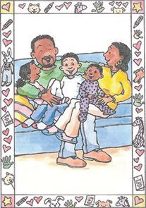 Someone I Love is Sick: Helping Very Young Children Cope with Cancer in the Family is a customizable book to use when talking with children ages 2-6 years old when a parent or grandparent has cancer. It addresses all stages of the cancer journey including diagnosis, treatment, hospitalization, recurrence and end of life. - See more at: http://www.someoneiloveissick.com/#sthash.wXdwEY1k.dpuf