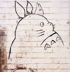 Totoro by JBB | MK00, via Flickr // this must be drawn on my wall in my future apartment.