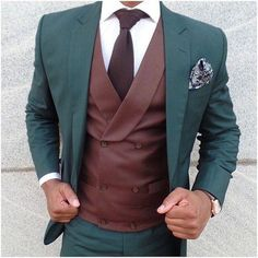 Latest Coat Pant Designs Green And Burgundy Double Breasted Formal Custom Jacket Men Suits Skinny 3 Pieces Terno Masculino Mens Fashion Blog, Mens Fashion Suits, Mens Suits, Love Fashion, Fashion Rings, Gq Fashion, Fashion Shirts, Fashion Menswear, Fashion Hair