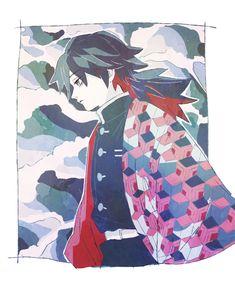 Giyuu - Demon Slayer/Kimetsu no Yaiba Manga Anime, Manga Boy, Anime Art, Demon Slayer, Slayer Anime, Dragon Tales, Demon Hunter, 2d Character, Boy Art