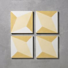 Yellow Otura Tile is part of Bert & May's handmade cement tile collection. Shop our range of quality tiles in plain or patterned styles, created using natural pigments.