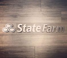 What a privilege it was to make this sign. Am I the only one who thinks What are you wearing Jake from State Farm? when you see the State Farm logo? #statefarm #inspiremetals
