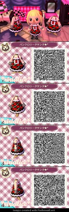 Animal Crossing New Leaf Punk Lolita Santa Christmas QR code