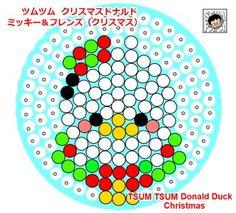 tsum tsum perler beads Christmas Donald