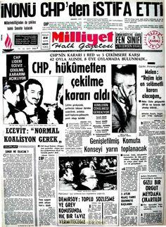 Milliyet gazetesi 5 kasım 1972 Newspaper Headlines, Old Newspaper, Turkey History, Turkey Country, Important Facts, Nostalgia, Istanbul, Go Outside