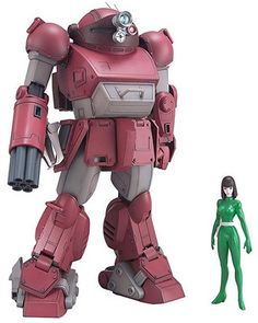 Scopedog used by Fayana in Armored trooper Votoms.  Features right hand gattling gun with ammo magazines.