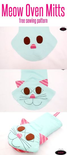 Know a cat lover who loves to bake? Why now make her a cute meow overn mitt? Get the FREE PATTERN NOW!