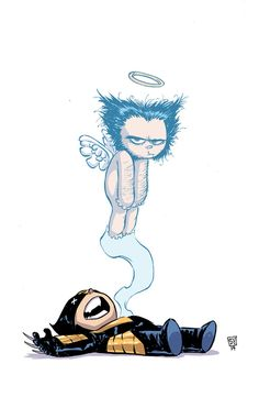 Skottie Young - Death of Wolverine #1 Death Of Wolverine, Marvel Dc, Marvel Comics, Skottie Young, Baby Cover, Geek Art, Comic Games, Disney Characters, Fictional Characters