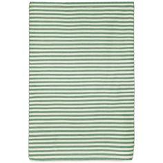 Petite Stripe Aqua Outdoor Rug (7'6X9'6)