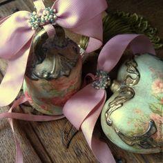 """Купить """"Rose Garden"""" Интерьерные украшения колокольчик и сердечко. - разноцветный, сердечко, сердце, колокольчик, подвеска"""