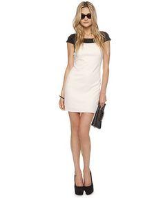 Framed Colorblocked Dress
