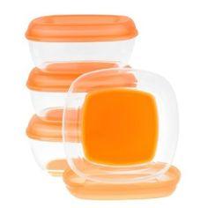 Amazon.com: Vital Baby Press 'n' Pop Freezer Pots, Orange, 3 Ounce, 4 Pack: Baby $6