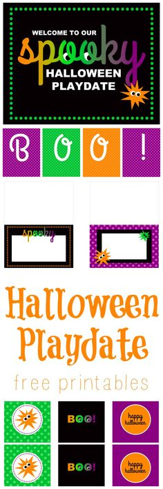 Halloween Playdate FREE Printables - great for little ones!
