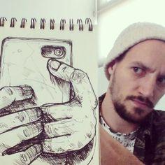 Francouzský ilustrátor David Troquier vytváří kresby, které přesně zapadají do svého okolí :) #art #creative #doodles