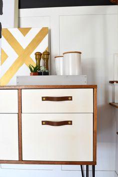 DIY Leather Drawer Pulls | Houseologie