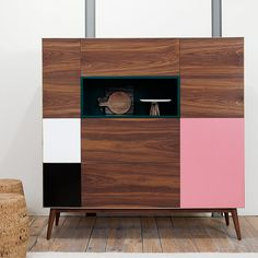 Compact, Colour-Blocked Cupboards by BOA SAFRA
