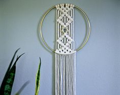 Macrame Wall Hanging Dreamcatcher  50 Natural White