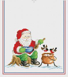 Санта обедает