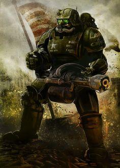 Fallout Warriors Characters poster prints by Eden Design Fallout Fan Art, Fallout Concept Art, Fallout Power Armor, Fallout Wallpaper, Arte Zombie, Fallout Cosplay, Eden Design, Post Apocalyptic Art, Futuristic Armour