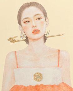 Jennie is part of pencil-drawings - pencil-drawings Korean Art, Asian Art, Art Sketches, Art Drawings, Pencil Drawings, Wallpaper Wall, Pop Art Women, Korean Painting, Arte Sketchbook