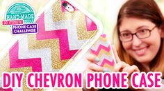 Karen's up first for the Phone Case Challenge, and she's tackling paper. Learn how to make an easy glittery chevron phone case, and try not to get yours stuc...