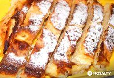 Bécsi tejben sült rétes Croatian Recipes, Hungarian Recipes, Hungarian Food, Strudel, Cookie Desserts, Cookie Recipes, My Recipes, Favorite Recipes, Relleno