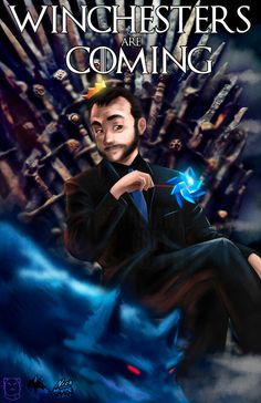 Supernatural fanart. Crowley | Supernatural and Game of Thrones