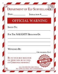 A cute christmas elf warning letter andor a personalized letter elf on shelf shelf ideas shelves shelving planks open shelving shelf spiritdancerdesigns Image collections