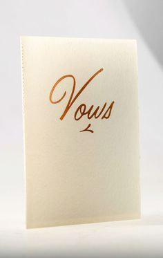 Vows Books Set of 2 / Books for the Bride and Groom by YolkDesign