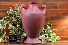 Burley Winter Pottery large urn vase, This imposing Burley Winter Pottery vase was produced around It is a wonderful example of the vase with no crazing, no chips, no cracks, and no restoration. Purple Gray, Grey, Zanesville Ohio, Urn Vase, Pottery Vase, 1920s, Antiques, Winter, Purple Grey