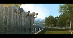 Matte painting - Walk by the palace lake You can see a shot I did for this matte