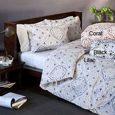 @Overstock - Bring a breath of fresh air to your bedroom with the unique print of the Bonaire duvet cover set. This set features a 300 thread count and a rich cotton blend for soft comfort. http://www.overstock.com/Bedding-Bath/Bonaire-Duvet-Cover-Set/6362396/product.html?CID=214117 $32.99