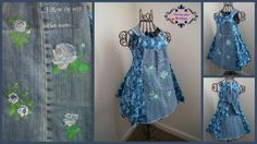 A Rose by Any Other Name ... Denim Upcycle Dress by stewiecakes, $25.00