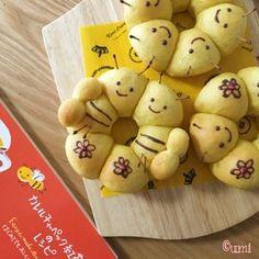 みつばちバジー☆かぼちゃ風味のちぎりパン