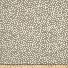 KasLen Drizzle Dots Jacquard Stone from @fabricdotcom  Refresh and modernize an old piece of furniture and update it with a new look. This heavyweight jacquard upholstery fabric is appropriate for some window treatments, accent pillows, upholstering furniture, headboards and ottomans. Colors include ivory and stone grey.