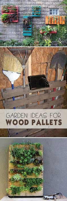 DIY Garden Ideas for Wood Pallets!