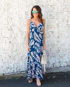 Capella Floral Maxi Dress - Navy - FINAL SALE 257d18edb